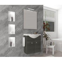 Třídílná sada nábytku do koupelny Zafirro Scuro