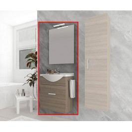 Třídílná sada nábytku do koupelny Zafirro Brown