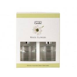 Sada 2 difuzérů esenciálních olejů a tyčinky White Flowers 40 ml