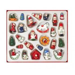 Sada 26 závěsných dekorací Traditional Christmas