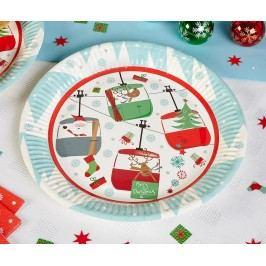 Sada 8 talířů na jednorázové použití Festive Fun