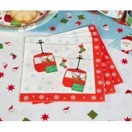 Sada 16 ubrousků Festive Fun Vánoční dekorace