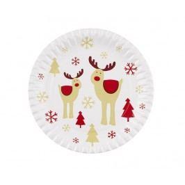 Sada 8 talířů na jednorázové použití Rocking Rudolf