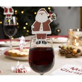 Sada 10 značek na skleničky Let It Snow Dear Santa
