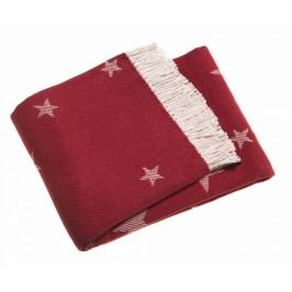 Pléd Stars Red 140x180 cm Deky
