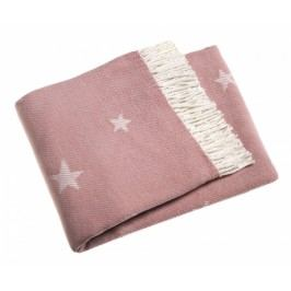 Pléd Stars Pink 140x180 cm