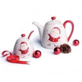 Sada čajník, cukřenka a lžička Christmas Country