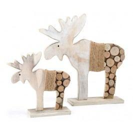 Sada 2 dekorací Elk Tree