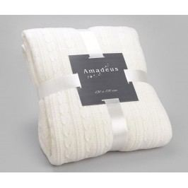 Pléd Knit White 130x170 cm