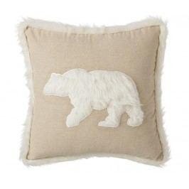 Dekorační polštář Bear Beige 45x45 cm