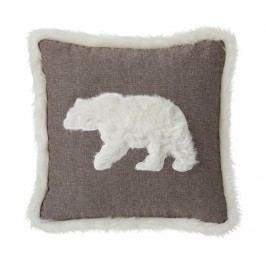 Dekorační polštář Bear Brown 45x45 cm