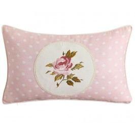 Dekorační polštář Dots Rose Pink 30x50 cm