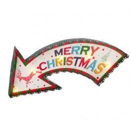 Světelná dekorace Merry Christmas Arow