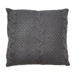 Dekorační polštář Gliss Knitted Grey 45x45 cm
