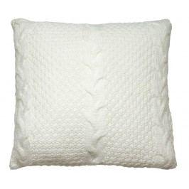 Dekorační polštář Gliss Knitted White 45x45 cm