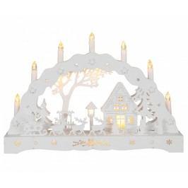 Světelná dekorace Santa and Reindeers