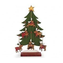 Dekorace s 6 zavěsnými dekoracemi Reindeer