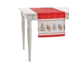 Středový ubrus Happy Christmas 40x140 cm