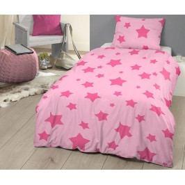 Ložní povlečení Single Ranforce Pink Stars