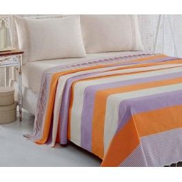 Přehoz Pique Brigitte Orange Lilac 200x235 cm