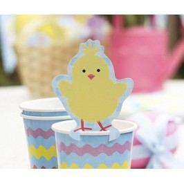 Sada 10 etiket na sklenice Easter Chick