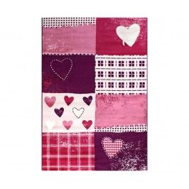 Koberec Hearts  Purple 160x230 cm
