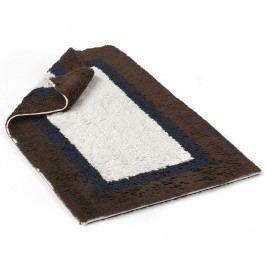 Předložka do koupelny Soho Chocolate Deep Blue Ivory 55x90 cm