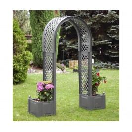 Zahradní oblouk a 2 květináče Grey Arch