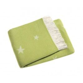 Pléd Stars Lime Green 140x180 cm