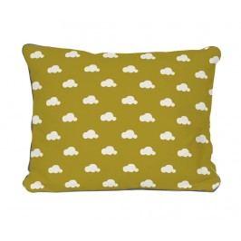 Dekorační polštář Clouds Mustard Pattern 35x50 cm