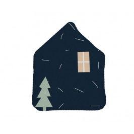Dekorační polštář Dark Blue House 21x42 cm