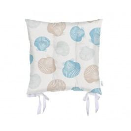 Polštář na sezení Seashells Blue 37x37 cm