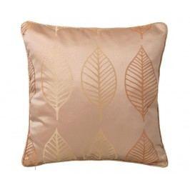 Dekorační polštář Leaf Golden Orange 50x50 cm