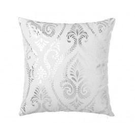 Dekorační polštář Baroque White Silver 45x45 cm