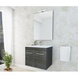 Třídílná sada nábytku do koupelny Corallo Scuro