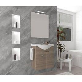 Třídílná sada nábytku do koupelny Zaffiro