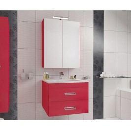 Třídílná sada nábytku do koupelny Fly Red