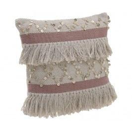 Dekorační polštář Dorian Cream Pink 45x45 cm