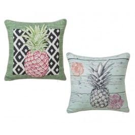 Sada 2 dekoračních polštářů Pineapple Pink 45x45 cm