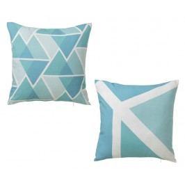 Sada 2 dekoračních polštářů Simetric Blue 45x45 cm