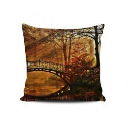 Dekorační polštář Autumn Bridge 43x43 cm