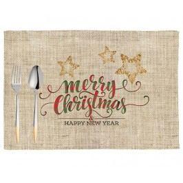 Sada 2 prostírání Happy Christmas 33x45 cm Vánoční dekorace