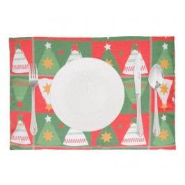 Sada 2 prostírání Joyful Christmas Trees 33x45 cm