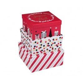 Sada 3 úložných krabic s víkem Joyeux Noel