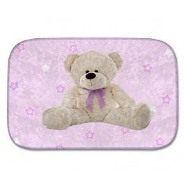 Koberec Bear Pink Stars 70x95 cm