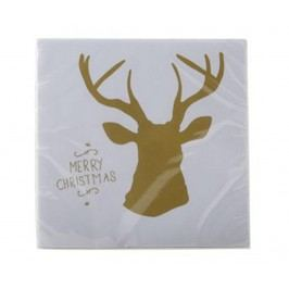 Sada 20 ubrousků Merry Christmas 38x38 cm