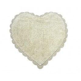 Předložka do koupelny Avorio Heart 60x60 cm