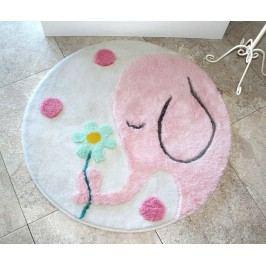 Předložka do koupelny Buyuk Round Pink 90 cm