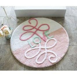 Předložka do koupelny Era Round Pink 90 cm