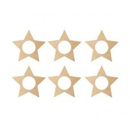 Sada 6 prstenů na ubrousky Cute Christmas Star